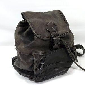 Tomi Genuine Leather Drawstring Backpack lk new